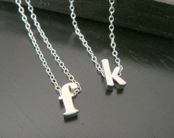 Lowercase Tiny Single Letter Initial Necklace, Alphabet Necklace, Customized Name Necklace, Single Letter Necklace,  One Letter Necklace