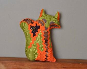 "Fox Softie ""Foxtile"" decorative pillow in Autumn Woods"