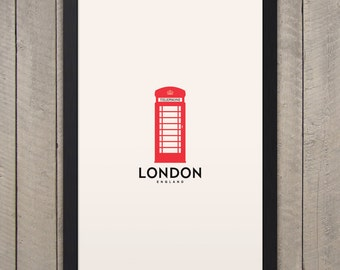 "LONDON Minimalist City Poster - 12"" x 18"""