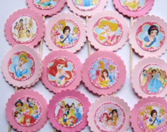 15 Disney Princess Party Picks - Cupcake Toppers - Toothpicks - Food Picks -  FP350