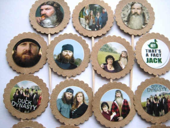 15 Duck Dynasty Party Picks - Cupcake Toppers - Toothpicks - Food