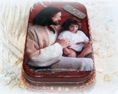 SALE Jesus Loves Me, Altered Altoid Tin Box