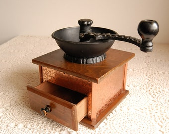 Coffee Mill with Cast Iron Top