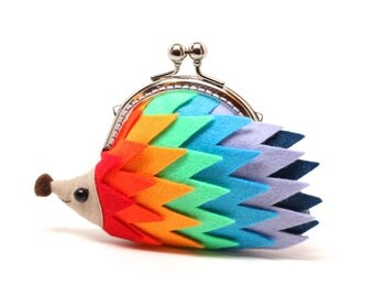 "Color palette hedgehog clutch purse ""Harmony"""