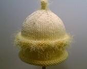 Goosey Gander Baby Hat With Fizz Trim