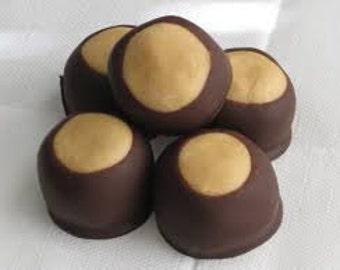 Buckeyes - Chocolate candy - sweet treat - Dessert - Candy - Wedding - Birthday - Chocolate peanut butter candy - Party Food -  Summer treat