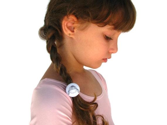 Girls Ponytail Holder, Toddler Girls Accessories, Button Ponytail Holder