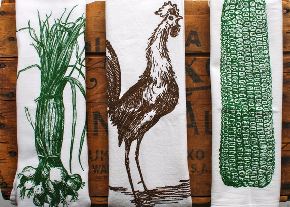 Flour sack towels: Farmhouse edition