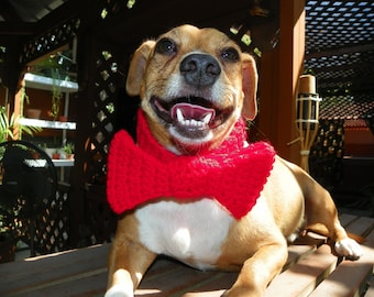 Christmas Bow Tie for you Dog or Cat Red Bow Size Small-Med
