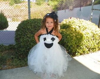 Ghost Tutu Dress-Ghost Tutu Costume-Halloween Ghost Tutu Sizes Newborn-10 Years.