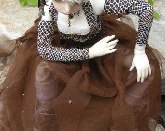 MSD steampunk net skirt