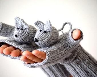 Last minute discount // Original Design Cute Mice gloves, mice gloves, fingerless gloves ,children clothing, gift, birthday, boy, girl