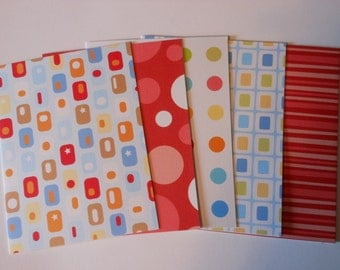 Set of 5 Bright Basic Blank Notecards with Envelopes #9128