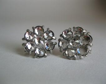 Vintage 1930s Cut Crystal Earrings Rhinestone Flapper Wedding Bridal Fashions