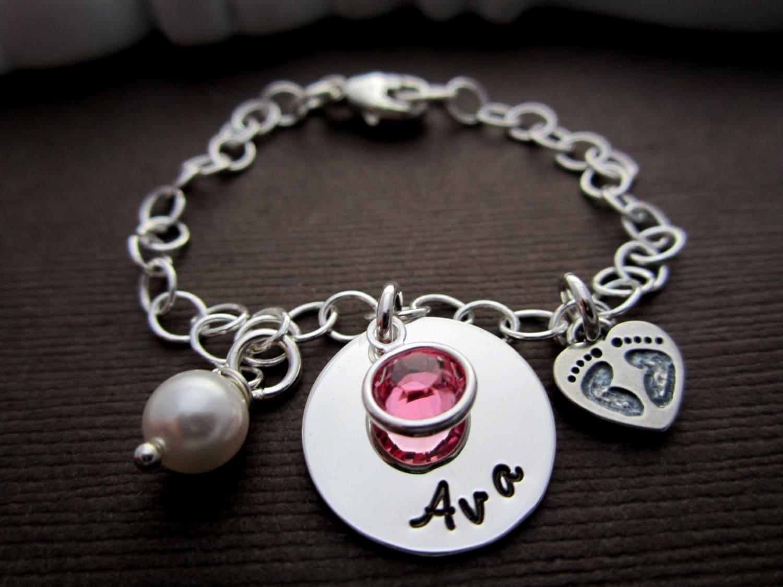 Personalized Baby Jewelry Baby Bracelet Custom by ShinyMetals   Personalized Baby Jewelry For Girls