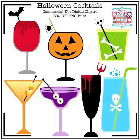 Halloween Clipart Halloween Cocktails - Halloween Digital ...