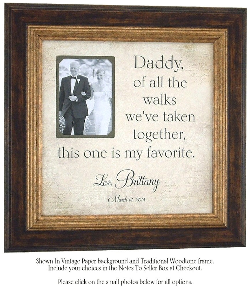 Father Of The Bride Gifts: Father Of The Bride Gift Walk Bridal By PhotoFrameOriginals
