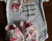 Gay Lesbian Mommies Baby Girl, Two Mommies, Cotton Onesie Bodysuit, Baby shower gift, Two Moms