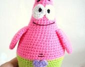 Pattern, Patrick Star Pattern, Crochet Tutorial, Amigurumi Patrick Star Pattern - Crochet Patrick Star Pdf Tutorial, Instant Download