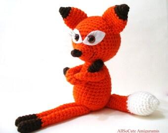 Crochet Pattern, Crochet Tutorial, Fox, Amigurumi Crocheted Fox Pattern, Crochet Fox Pattern