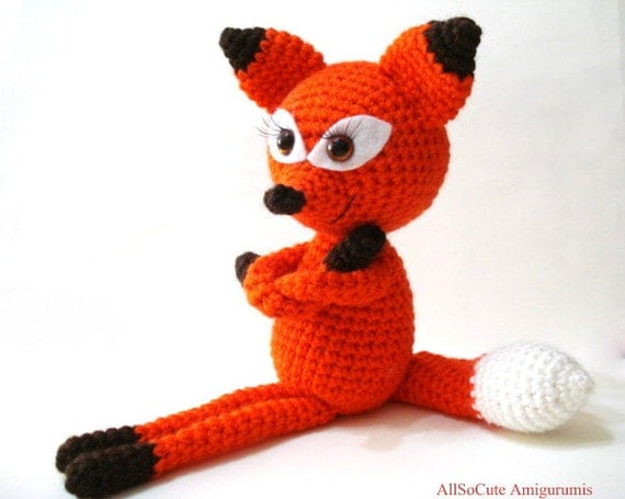 Amigurumi Strawberry Girl Free Pattern : Crochet Pattern Crochet Tutorial Fox Amigurumi Crocheted