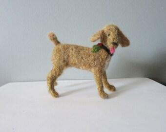 Golden Poodle needle felted