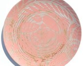 Indian Lace Wood Grain 10 Plate, Coral