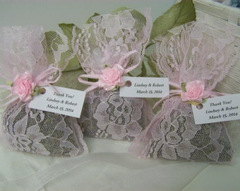 50 wedding favors sachets, lavender sachets, wedding day, pink sachets, wedding sachets