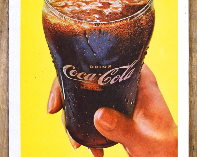 1962 Coca Cola Advertisement, Zing, Magazine page, Ephemera 1962, TV Guide