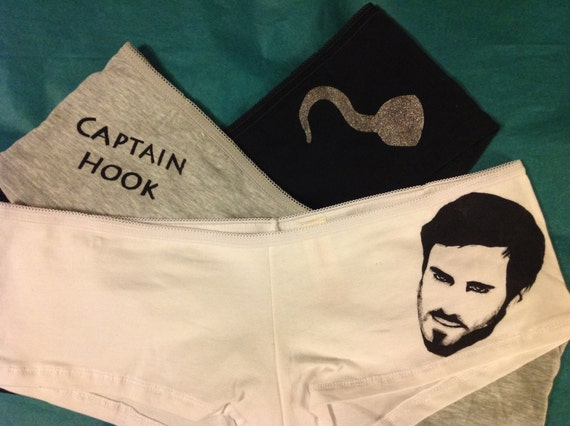 Captain Hook / Killian Jones triple panty set