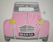 Iconic Car Print - Pink 2CV - Citroen 2CV - 2CV - Pink - Vintage Car Picture - Classic Car Print - Iconic Car Print