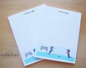 Personalized Notepads - Dachshunds Playing Hockey (set of 2)