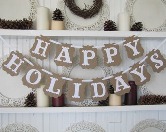 HAPPY HOLIDAYS Banner for the Christmas Season
