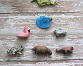 Custom Miniature Clay Animal/ Hand painted and hand sculpted//