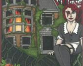 CULT TV Tarot American Horror Story postcard PRINT