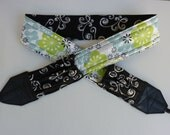 """NEW """" Midnight Summer Paisley """" camera strap, reversible, 2 expandable pockets with stretchable elastic"""