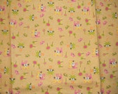 Pink, Green, Yellow, and Orange Cat XL Receiving Blanket