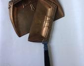 Art Deco Solid Copper Silent Butler / Crumb Catcher.