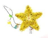 Electric Light Christmas Tree Star Tinsel Topper Christmas Light Up Star Ornament