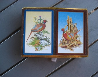 New set of Congress playing cards w pheasants,  game birds vintage