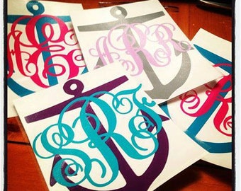 Monogram Anchor Decals