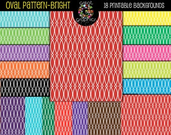 Digital Paper Pattern Digital Paper Invitation Paper Baby Shower Paper Scrapbook Paper Printable Bright Color - Instant Download