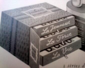 Original Vintage French Ad Stendhal Epithelium Cosmetics 1954