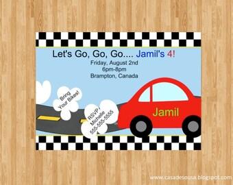 Transportation/cars/trucks Invitation Digital File