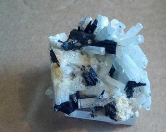 Beautiful Aquamarine and Schorl Quality Mineral Specimen