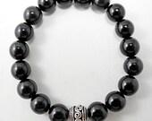 Black Obsidian 18 Stone Mala Bracelet