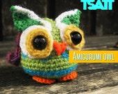 Amigurumi owl PDF crochet pattern , Bu the psychedelic owl