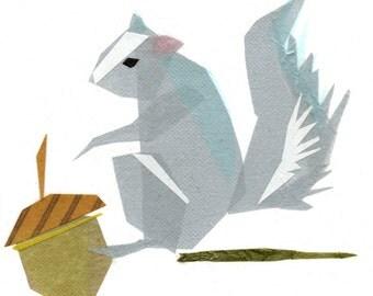 Cornelius Squirrel - Animal Art Print