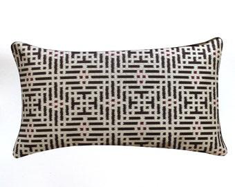 Lumbar Pillow Cover 12x21 Brown Pillow Cover Geometric Southwest Decor Decorative Pillow Oblong Throw Pillow Cover