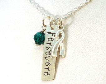 Persevere Awareness Necklace for Liver Cancer and Mental Health Awareness